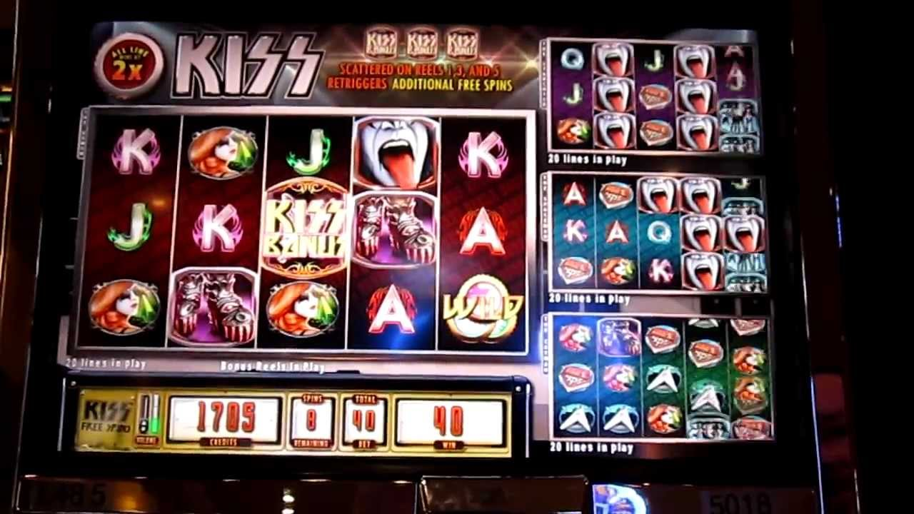 Play kiss slot machine online